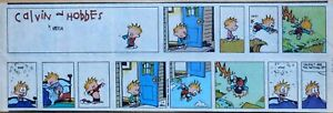 Calvin and Hobbes by Bill Watterson - color Sunday comic page - Nov. 19, 1989