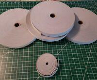5 Yards Heavy Duty woven elastic band 1 inch wide light gray waistband belt ect