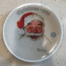 "Norman Rockwell 1988 ""Santa Claus"" Limited Edition Christmas Plate"