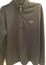 Calloway Long Sleeve Black Pullover Men's Large 1/4 Zip