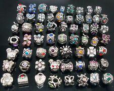 20PCS Mixed Rhinestone Tibet Silver Big Hole Spacer Beads fit European bracelet