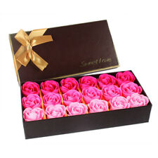18Pcs Creative Gradient simulation rose Soap flower