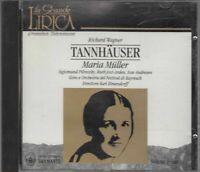 TANNHAUSER Volume Primo di Wagner - Maria Muller CD Audio Musicale