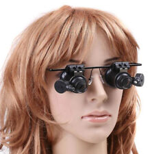 Jeweler Watch Repair 20X Eye Magnifier Magnifying LED Light Glass Loupe Lens
