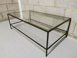 John Lewis Gallery Direct Outline Bronze Bevelled Glass Industrial Coffee Table