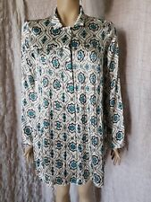 Odd Molly 100% silk patterned full buttoned pleated shirt dress tunic size 3