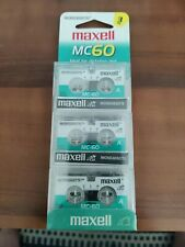 Maxell MC60 Micro Cassettes Microcassette 3-Pack 60min NEW Tapes