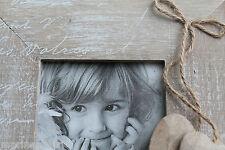 Cadre photo bois coeurs neuf carré pastel à poser aspect brut décoration mode