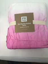 Pottery Barn Teen Twin duvet cover Surf Dip Dye 2 Ruched  New