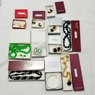 Vintage in Boxes costume jewelry lot mixed Monet Marvella