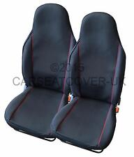 Toyota Corolla Verso  - Pair of UK MADE Black & Red Trim Car Seat Covers
