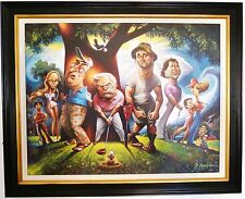 "NEW David O'Keefe Framed Caddyshack Bushwood Print 22"" x 28"" ready to hang"