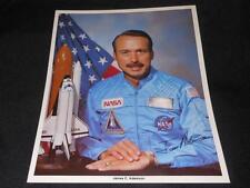 NASA Astronaut James Adamson Official 8x10 Auto Pen Facimile Signed Photo JB10