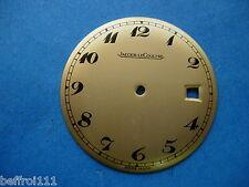 Cadran doré montre ancienne avec date Jaeger LeCoultre vintage .Zifferblatt.dial