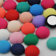 100 pcs Colorful Round printing fabric covered button with flat back CT11