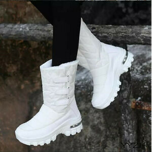 Women's Warm Winter New Style Cotton Outdoor Sports High Top Boots Hook