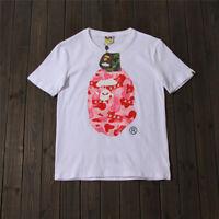 2020 Men's BAPE A Bathing Ape Camo Print T-shirt Casual Short Sleeve Multi-color