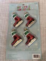 """My Little Christmas Ice Skating Minature Ornament Set Of 6 Size 2"""""""