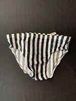 Vintage Catalina Mens Speedo Swimwear Briefs NWT Size Medium - White Striped