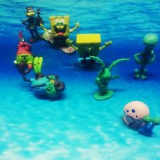 6/8Pcs Spongebob Squarepants Fish Tank Aquarium Ornament Decoration Figure Toys