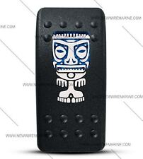 Labeled Contura II Rocker Switch Cover ONLY, (Tiki Man) (Blue Window)