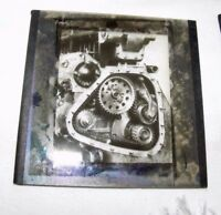 VINTAGE MAGIC LANTERN SLIDE OF WHEELS / COGS MACHINERY MECHANICAL STEAMPUNK