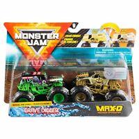 Monster Jam 2020 Reveal the Steel Grave Digger & Max-D Diecast Trucks 2 Pack