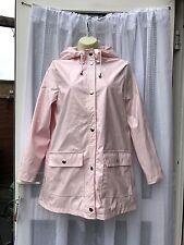 BABY PINK SHINY HOODED MAC / MACK / RAIN COAT SZ 10 LARGE ATMOSPHERE /  FESTIVAL