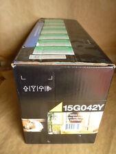 Lexmark 15G042Y Yellow Toner Cartridge Genuine