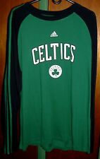 Boston Celtics Green/Black XL Adidas Long Sleeve T-shirt - New!