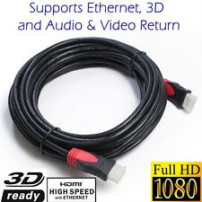Newest Gold Series HDMI1.4 3D Cable HDTV Blu-Ray High Speed+Ethernet 30FT