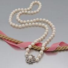 """PERLEN-KETTE """"Akoya-Perlen mit 14K Weißgold-Schliesse mit Diamant(en) und Perle"""""""