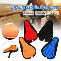 Bike Bicycle 3D Silicone Gel Saddle Seat Cover Pad Padded Soft Cushion  /*/