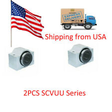 2pcs SCV10 SCV10UU SC10VUU Linear Ball Bearing Pellow Bolck With LM10UU in USA