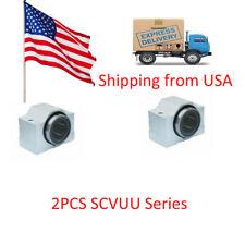 2pcs SCV8 SCV8UU SC8VUU Linear Ball Bearing Pellow Bolck With LM8UU in USA