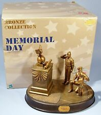 GI JOE BRONZED MEMORIAL DAY SCULPTURE IN BOX LIMITED EDITION MILITARY STATUE