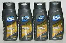 LOT (4) DIAL FOR MEN ODOR ARMOR BODY WASH 16 FL OZ WASHES AWAY BACTERIA