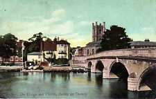 P.C The Bridge And Church Henley On Thames Oxford Oxfordshire Good Condition