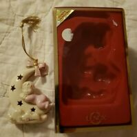 New In Box LENOX Baby's First Christmas Ornament 2001 Annual Baby Girl