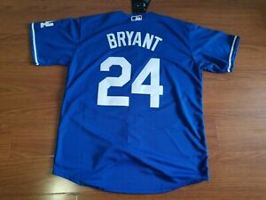 Men's Kobe Bryant Jersey Custom Dodgers 8 24 KB !! Blue Jersey  !!!