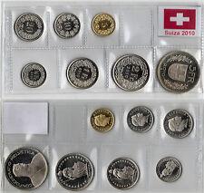 Swiss 2010 BU 7 coins set CHF / Suiza tira serie 7 monedas Schweizer KMS Suisse