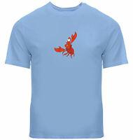 Unisex Tee T-Shirt Mens Women Gift Shirts Print Cartoon Crab Mermaid Sebastian