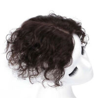 Curly Clip In Hair Toppers 100% Remy Human Hair Topper Hairpiece For Loss Hair