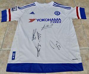 Chelsea Football Shirt Signed By Sarri , Kante , Giroud ,Caballero & Christensen