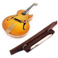 Luthier Rosewood Bridge with Bone Saddle for Archtop Jazz Guitar Mandolin Parts