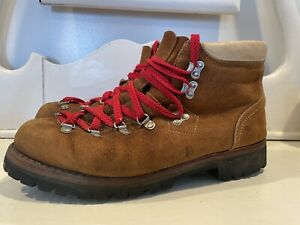 Vtg Sears Monte Blanc Suede Leather Hiking Boots Mountaineering Mens Size 11