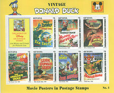 GUYANA 1994  MNH SOUVENIR SHEET nº 4  Donal Duck,vintage covers,Disney