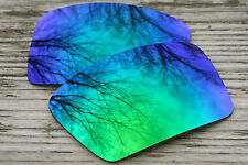 Mirrored Green Blue Polarized Replacement Sunglass Lenses for Oakley Eyepatch 2