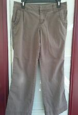"""Womens Pants Size 6 Brown Taupe Short SONOMA Casual 28"""" Inseam 32"""" Waist"""
