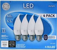 1 Pack GE LED CAM Daylight 6.5w Decorative Frosted Finish 500 Lumens 4 Ct Bulbs